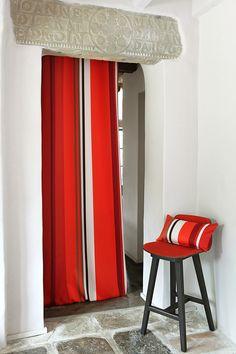 Rideau et Coussin coton Jean-Vier Pampelune Tapas - Cotton curtain and cushion Jean-Vier Pampelune Tapas >> http://www.jean-vier.com/