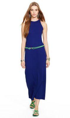 Cotton Racerback Maxidress - Polo Ralph Lauren Maxi Dresses - RalphLauren.com