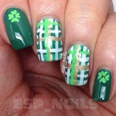 esp_nails St. patrick's day #nail #nails #nailart