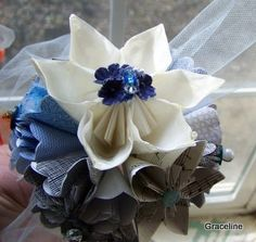 Recycled Origami Paper Flower Bouquet by GracelinePaperStudio, $10.50