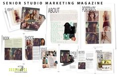 Free People Senior Studio Marketing & Magazine Template Collection by Savant Design Templates | Savant Design Templates Photoshop Templates for Photographers