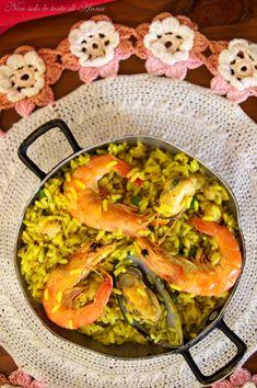 Paella ricetta Spagnola | Paella de marisco | Paella ricetta originale | Spanish Food, Buffet, Curry, Food Porn, Breakfast, Ethnic Recipes, Kitchen, Fagioli, Google