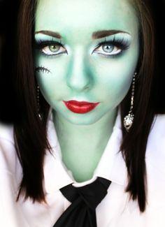 junge halloween hexe - interessante halloween make up  idee