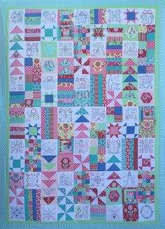 Congratulations on finishing the 32 blocks of the United Stitches 'Stitch and Switch' adventure! Are you ready make the whole United Stitches quilt now? The United Stitches Quilt Top Finishing Kit inc