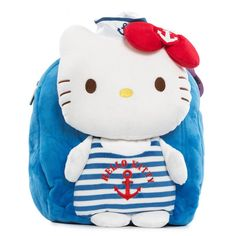 Blue Kitty Cat Kids Cartoon School Bag Backpacks Shoulders Bags,Made with soft fabic and adjustable shoulder straps.set feature of your favorite cartoon role. Disney Cartoon Characters, Disney Cartoons, Cartoon Kids, Cute Cartoon, School Bags For Kids, Backpack Bags, Bag Making, Hello Kitty, Onesies