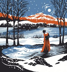 'Dorothy at Grasmere Lake' by Tom Duxbury. Taken from 'Dorothy Wordsworth's Christmas Birthday' a poem by Carol Ann Duffy.