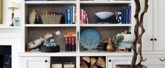 Sometimes the task of accessorizing shelving or bookcases can seem a little daunting. There are so many questions: what items … Shelving Decor, Shelves, Bookcases, Decorating, Organize, Fill, Archive, Fashion Design, Organization