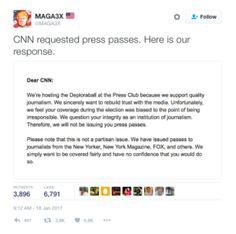 CNN Uninvitation to Trump inauguration