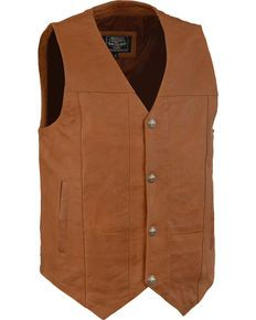 Milwaukee Mens Plain Side Vest with Buffalo Snaps Black, Large