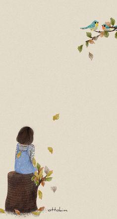 Risultati immagini per ottokim Art And Illustration, Illustrations, Cartoon Kunst, Cartoon Art, Tmblr Girl, Anime Art Girl, Cute Wallpapers, Cute Art, Chibi