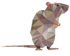 Rat Cross Stitch Pattern Modern par PlatoSquirrel
