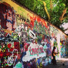 The wall has been covered with John Lennon inspired graffiti and lyrics of Beatles songs since the early 1980s, when young artists used to express their grievances on as their opinions and actions were suppressed by the regime. The wall is a symbol of the ideals of youth – peace and love.