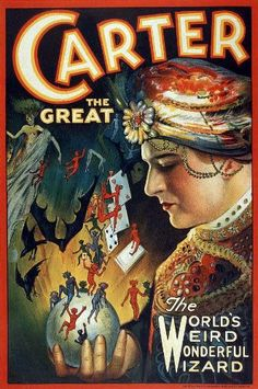 FANTASTIC A4 GLOSSY PRINT - 'CARTER THE GREAT' (A4 PRINTS - VINTAGE MAGICIAN'S FLYERS / ADVERTISING POSTERS) by Unknown http://www.amazon.co.uk/dp/B0041ZI3J0/ref=cm_sw_r_pi_dp_Lh1svb1HH73D3