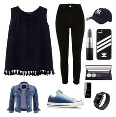 """""""Sans titre #43"""" by girlyaddict on Polyvore featuring mode, Violeta by Mango, maurices, River Island, Converse, Hartford, adidas, MAC Cosmetics et Chanel"""