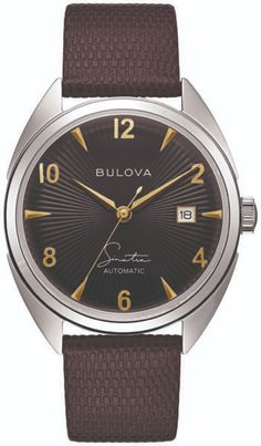 Bulova Unveils Frank Sinatra Collection: Four New Designs On 10 New Watches | WatchTime - USA's No.1 Watch Magazine Moon Watch, Bulova Watches, Black Accents, Stainless Steel Case, Vintage Inspired, Vintage Style, Jewels, Crystals, Magazine