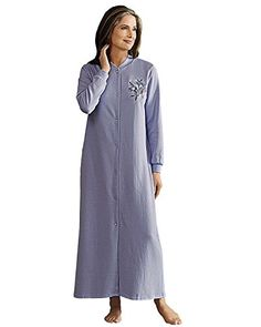 cd15247020 National Snap Front Fleece Robe - Short Periwinkle