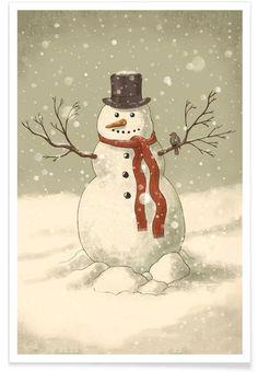 Snowman als Premium Poster