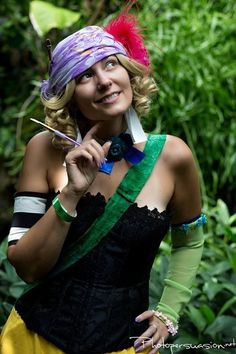 Danielle as Relm Arrowny from Final Fantasy 6 in MO Botanical Gardens