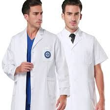 Lab Coat Hospital Gown White Long Robe Women and Men Soft Fabric Dentist Doctor Work Wear 3 One Pockets Healthcare Uniforms, Medical Uniforms, Hospital Uniforms, Spa, Soft Fabrics, Work Wear, Health Care, Gowns, Popular