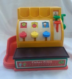 Check out this item in my Etsy shop https://www.etsy.com/listing/217484797/1974-vintage-fisher-price-cash-register