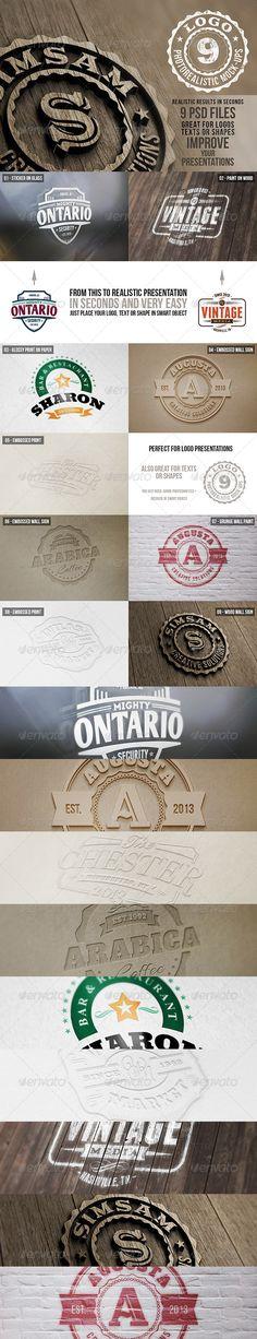 Photorealistic Logo Mock-Ups Vol.1 - Logo Product Mock-Ups