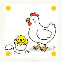 Preschool and children& animal puzzles, let& cut. - Preschool and children& animal puzzles, let& cut. Preschool and children& animal - Sensory Activities Toddlers, Preschool Learning Activities, Preschool Worksheets, Infant Activities, Preschool Activities, Activities For Kids, Farm Animals Preschool, Art Drawings For Kids, Kids Education