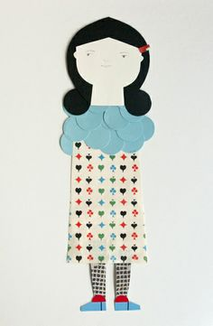 Just lovely paper dolls. Love the layered circles top. By Anna Ventura.
