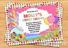 Candy Birthday Party Invitation via Etsy