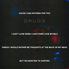 EDEN fanpage (If you'd like to suggest song lyrics for this page, you can send them in on my ask page) Eden Lyrics, Song Lyrics, Chill Pill, I'm Still Here, Self Destruction, Addiction Recovery, I Cant Even, Song Quotes, Music Stuff