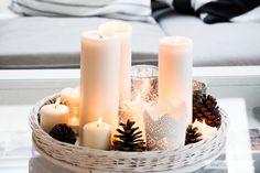 Minimalistische nordische-skandinavische Weihnachtsdeko nordic style mit Tannenzapfen | www.youdid-design.de