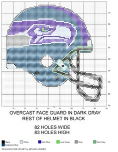 Seattle Seahawks NFL Side View Football Helmet plastic canvas pattern by Michael Kramer