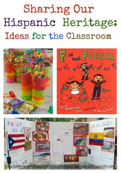 Discovering the World Through My Son's Eyes : Sharing Our Hispanic Heritage: Ideas for the Classroom & Community Multicultural Classroom, Spanish Classroom, Teaching Spanish, Spanish Heritage, Mexican Heritage, Spelling Activities, Spanish Activities, Diversity Activities, Learn Spanish Online