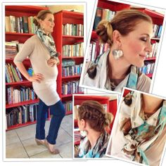 Scarf: Poetry, Top: YDE, Jegging: Woolworths, Shoes: Woolworths (long ago). Earrings: Seyschells.