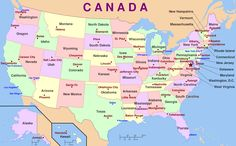 71 best A Literary Map of America images on Pinterest | Map of usa ...