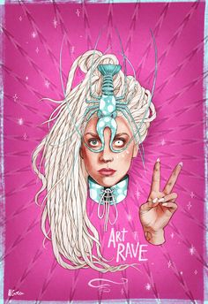 Art Rave Lady Gaga GIF by Helen Green