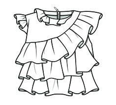 Technical flats // kids clothes // girls playsuit // baby playsuit pattern /// planos técnicos // desenhos técnicos para bebés // padrão playsuit bebés