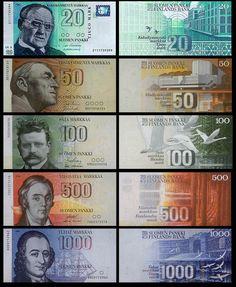 Finnish mark before euro