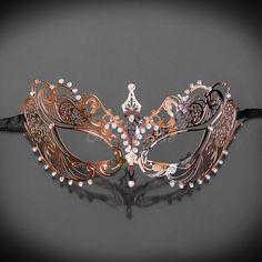 Rose Gold Masquerade Mask