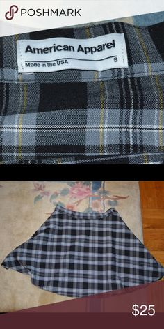 American apparel plaid skirt size s American apparel plaid skirt size small! Not pleated, kinda short and really cute. American Apparel Skirts Mini