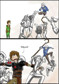 Poor Hiccup. Now he knows how Jack feels. lol XD