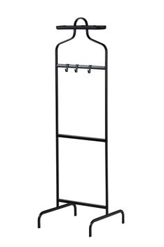 A valet is kind of old-fashioned, but totally practical — especially if you use it to keep your next-day outfit at the ready. This one comes with three hooks and a removable tray on top. #refinery29 http://www.refinery29.com/ikea-small-space-items#slide-6