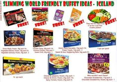 Slimmimg world food Slimming World Syn Values, Slimming World Treats, Slimming World Tips, Slimming World Recipes Syn Free, Iceland Party Food, Slimming World Shopping List, Shopping Lists, Party Food Buffet, Slimmimg World