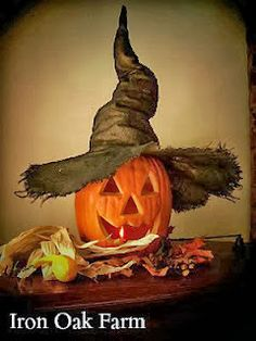 (sew burlap, then soak in glue/water to mess with shape, dry) http://ironoakfarm.blogspot.com/2013/10/making-crooked-witch-hat.html