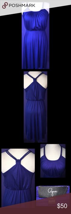 Aqua Braided Knot Back Dress - Size XS Aqua Braided Knot Back Dress in a Size XS.  High low style.  Very flattering fit!  Brand-new, without tags and never worn! Aqua Dresses High Low