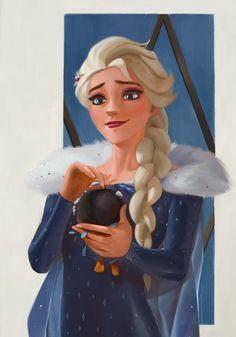 Elsa with Sir Jorgen Bjorgan Frozen Fan Art, Frozen And Tangled, Disney Frozen, Walt Disney, Queen Elsa, Snow Queen, Disney Fan Art, Narnia, Olaf