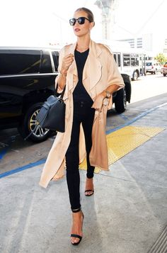 Rosie Huntington-Whiteley Gives Airport Dressing a Rosy New Twist from InStyle.com