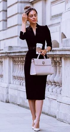 45 Trendy Business Casual Work Outfits for Women - OutfitCafe - Summer Work Outfits Stylish Work Outfits, Work Casual, Office Outfits, Classy Casual, Classy Chic, Classy Style, Casual Office, Classic Work Outfits, Classy Outfits For Women