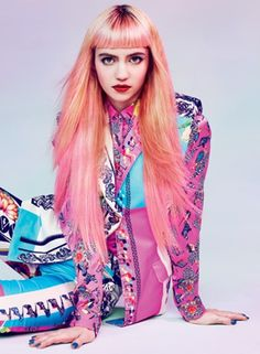 You can copy Grimes' hair with Manic Panic Pretty Flamingo and Cotton Candy Pink!