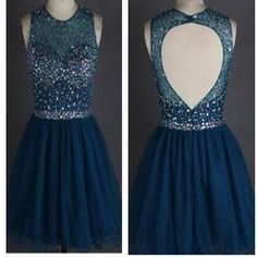 Popular sparkly open back freshman homecoming prom gowns dress,BD0077 #homecomingdresses