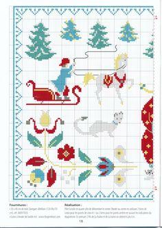 persian winter cross stitch scene pattern the horse and ferret? are so cute! Gallery.ru / Фото #13 - 911 - Yra3raza
